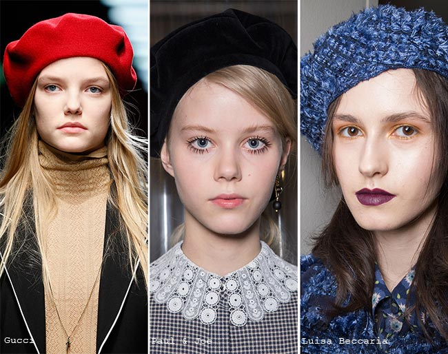 Fall/ Winter 2015-2016 Headwear Trends: French Berets