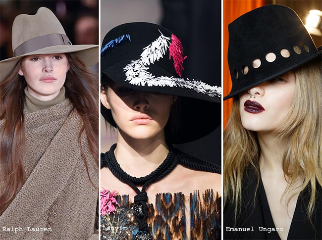 Fall/ Winter 2015-2016 Headwear Trends: Brimmed Hats