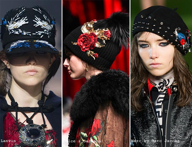 Fall/ Winter 2015-2016 Headwear Trends: Embellished Hats