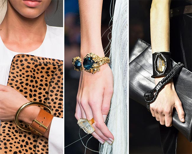 Fall/ Winter 2015-2016 Jewelry Trends: Braceletes Resembling Buckles and Cuffs