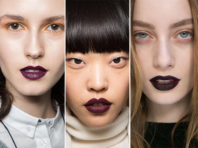 Fall/ Winter 2015-2016 Makeup Trends: Black Lips