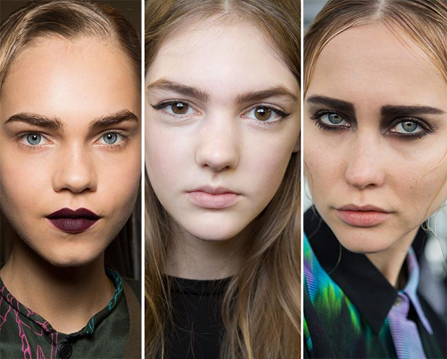 Fall/ Winter 2015-2016 Makeup Trends: Natural, Powerful Eyebrows