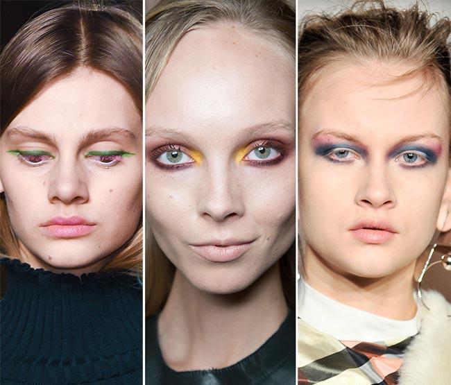 Fall/ Winter 2015-2016 Makeup Trends: Rainbow Eye Makeup