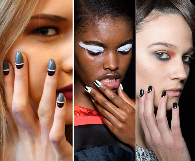Fall/ Winter 2015-2016 Nail Trends: Black and White Nails