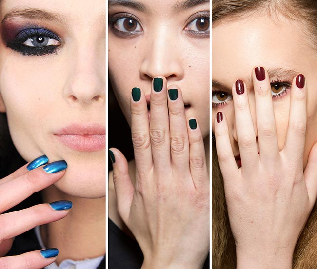 Fall Winter 2017 2016 Nail Trends Metallic And Jewel Polish Colors