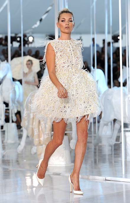 Famous fashion show models dress