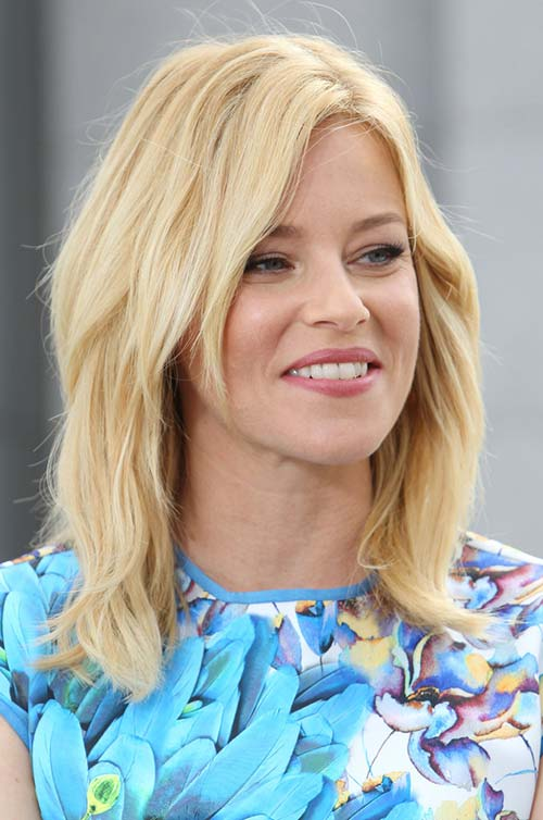 10 Shoulder-Length Layered Hairstyles: Elizabeth Banks