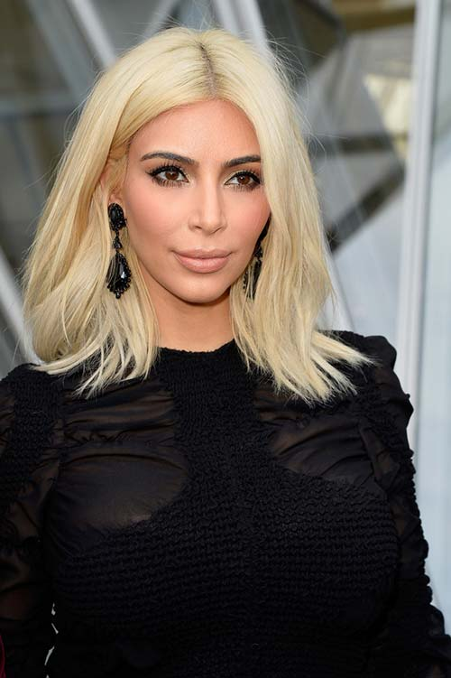 10 Shoulder-Length Layered Hairstyles: Kim Kardashian