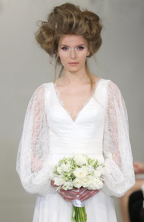 Spring 2016 Bridal Hairstyles and Beauty: Theia