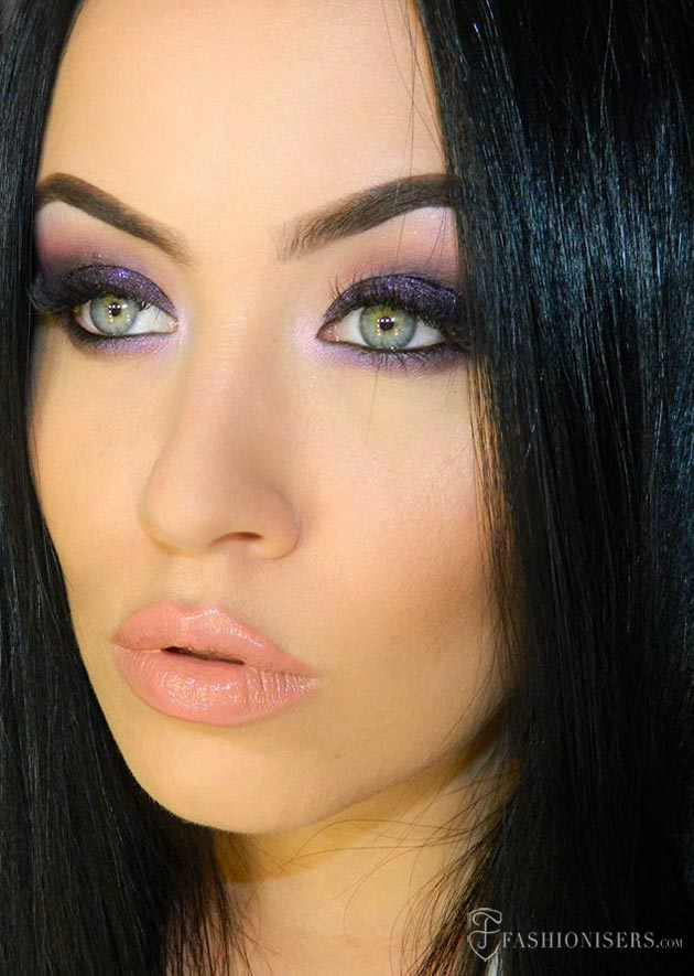 Deep Purple Smokey Eye Makeup Tutorial