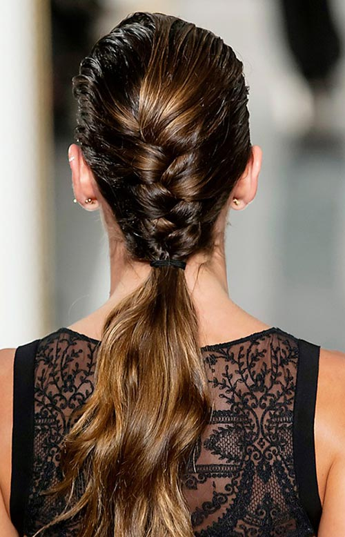 15 Killer Braided Hairstyles to Try for Coachella: Wet Effect Braids