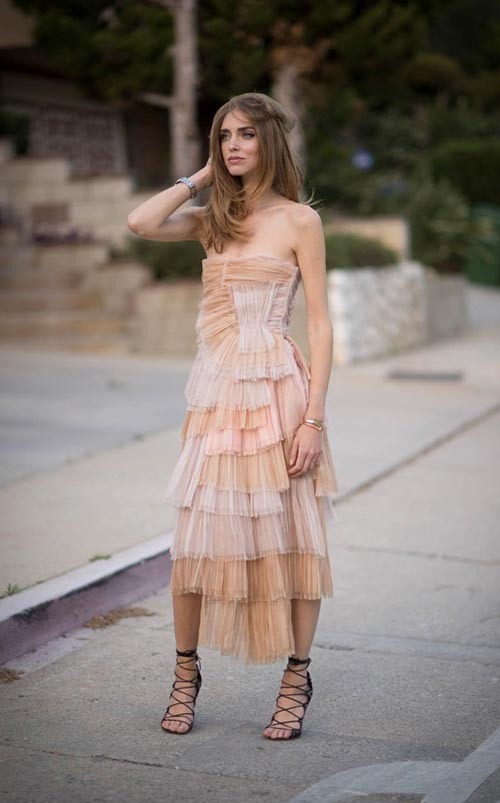 Summer 2015 Nude Wedding Guest Dresses: Burberry Prorsum
