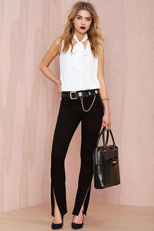 10 Denim Pieces for 2015 You Should Not Go Without: Black Denim Pants