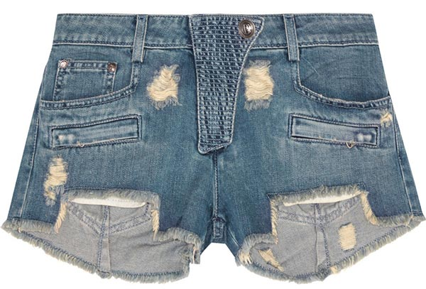 Summer 2015 Trendy Denim Shorts: Pierre Balmain Denim Shorts