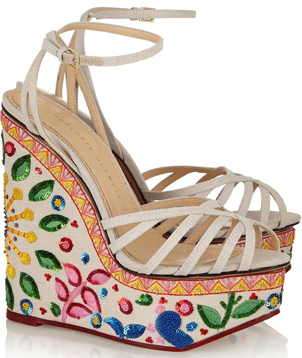 Trendy Spring/ Summer 2015 Platform Shoes: Charlotte Olympia Wedge Sandals