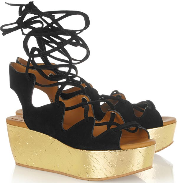 Trendy Spring/ Summer 2015 Platform Shoes: Chloe Gladiator Platform Sandals