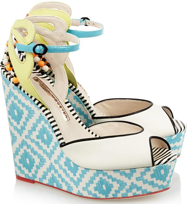 Trendy Spring/ Summer 2015 Platform Shoes: Sophia Webster Wedge Sandals