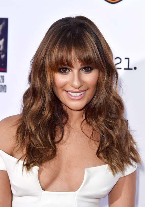 1970s Hairstyles With Bangs: Lea Michele