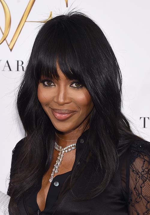 1970s Hairstyles With Bangs: Naomi Campbell