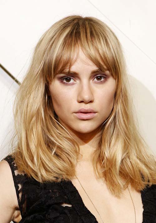 1970s Hairstyles With Bangs: Suki Waterhouse