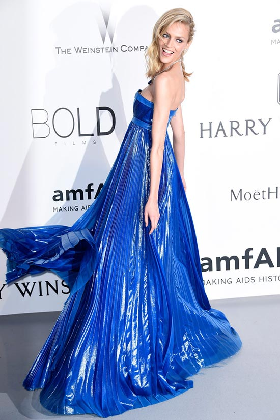 Cannes 2015 amfAR Gala Red Carpet Fashion: Anja Rubik