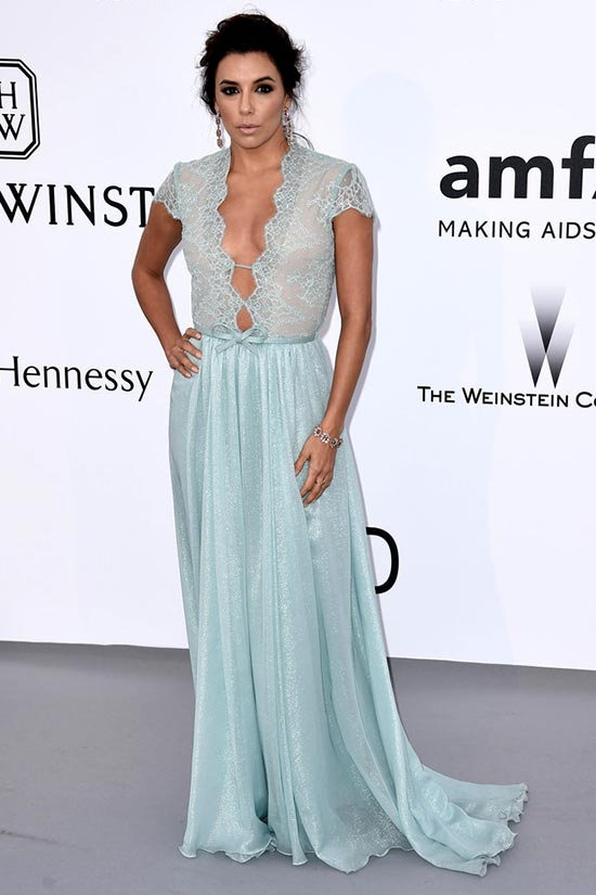 Cannes 2015 amfAR Gala Red Carpet Fashion: Eva Longoria