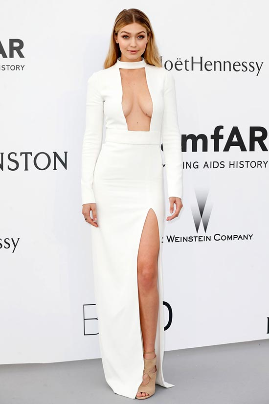 Cannes 2015 amfAR Gala Red Carpet Fashion: Gigi Hadid