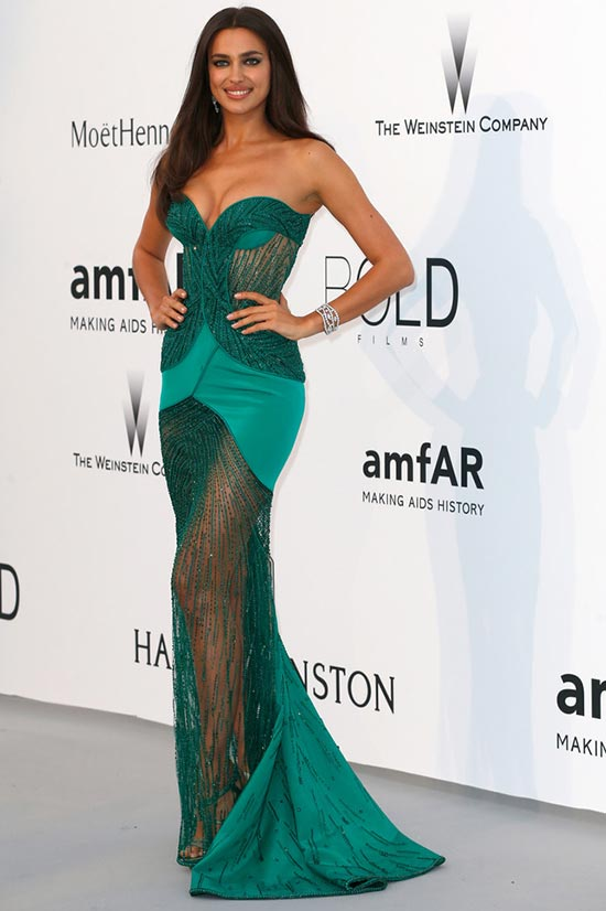 Cannes 2015 amfAR Gala Red Carpet Fashion: Irina Shayk