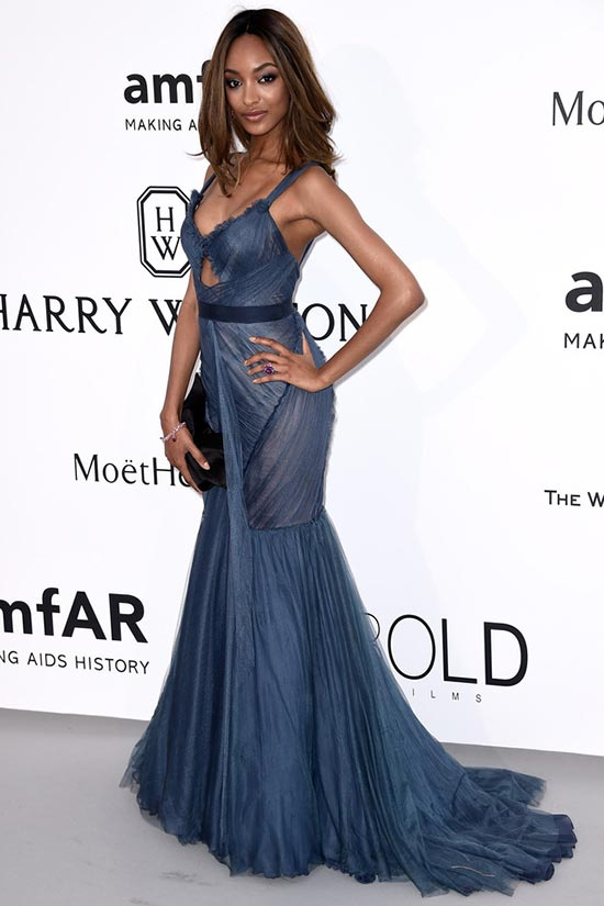 Cannes 2015 amfAR Gala Red Carpet Fashion: Jourdan Dunn