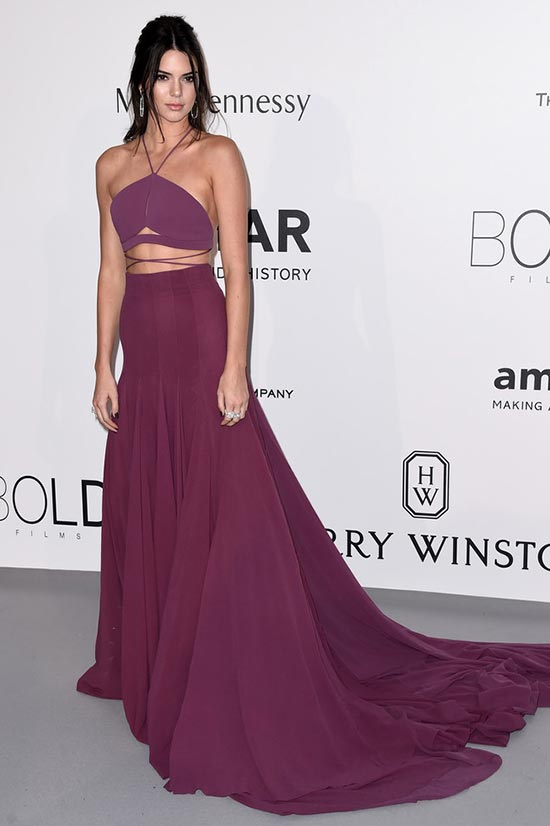 Cannes 2015 amfAR Gala Red Carpet Fashion: Kendall Jenner