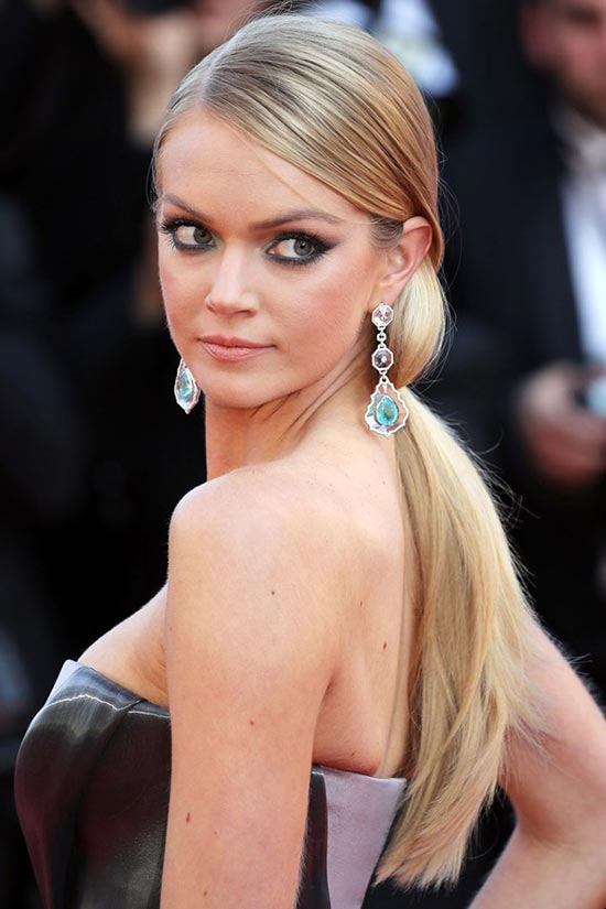 Cannes 2015 Hairstyles & Makeup: Lindsay Ellingson