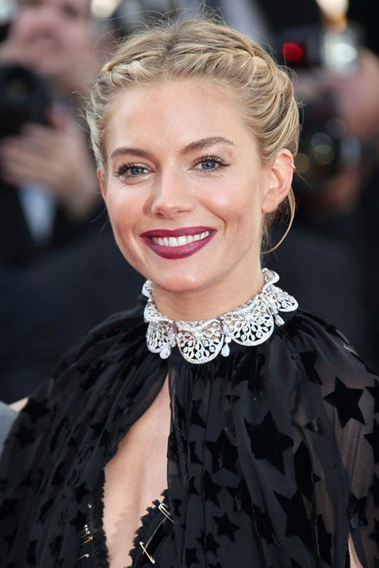 Cannes 2015 Hairstyles & Makeup: Sienna Miller