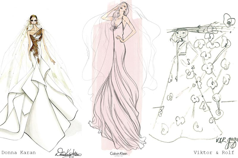 Lady Gaga's Wedding Dress Sketches