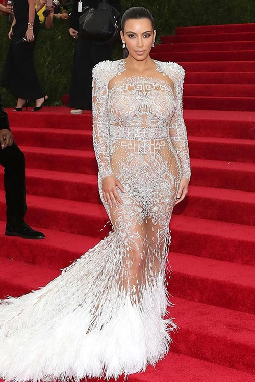 Met Gala 2015 Red Carpet Fashion: Kim Kardashian