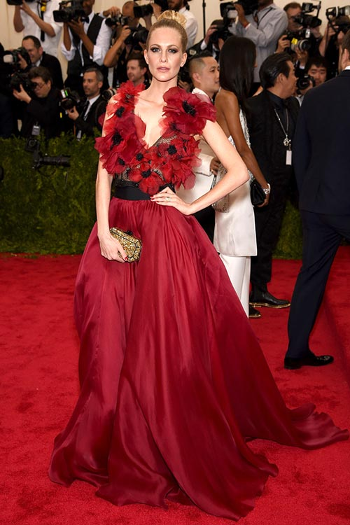 Met Gala 2015 Red Carpet Fashion: Poppy Delevingne