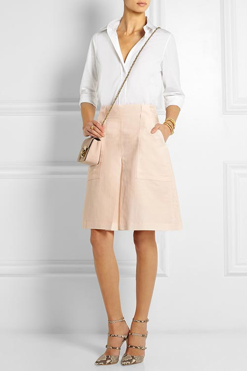 Dressy Office Shorts To Wear To Work: Bottega Veneta