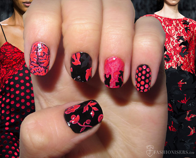 Fall 2015 Runway Inspired Nail Art Designs: Diane von Furstenberg