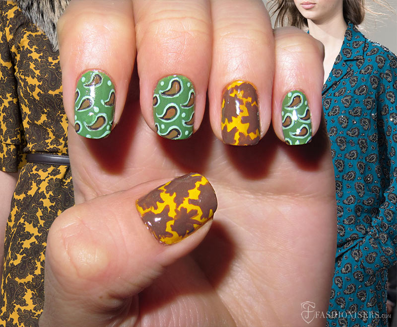 Fall 2015 Runway Inspired Nail Art Designs: Michael Kors