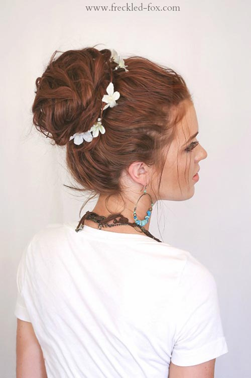 10 Hot Weather Hairstyles: Bohemian Messy Bun