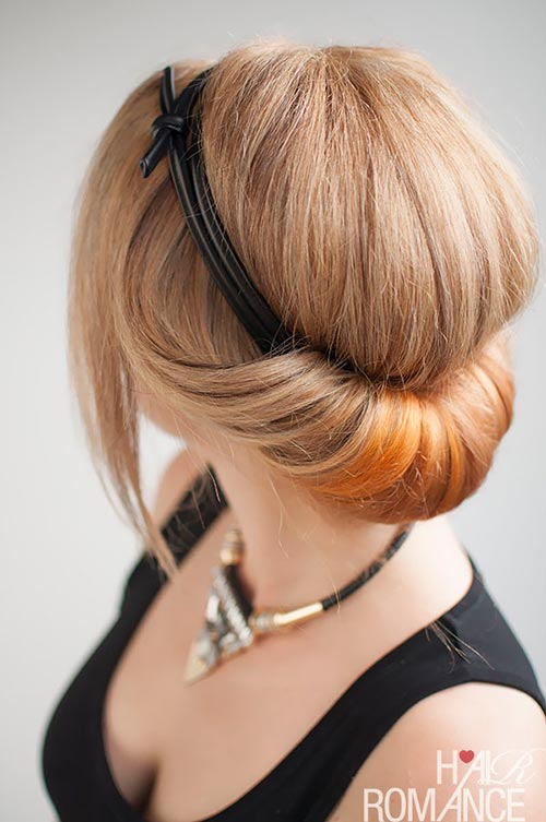 10 Hot Weather Hairstyles: Rolled Updo