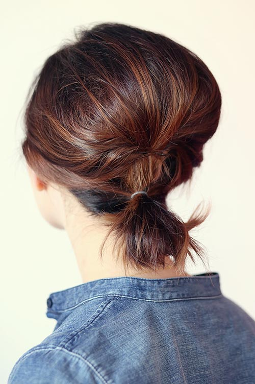 10 Hot Weather Hairstyles: Ponytail for Short Hair