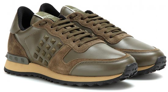 7 Military Pieces To Shop For Summer 2015: Valentino Rockstud Sneakers