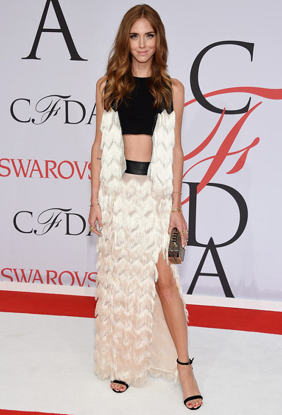 2015 CFDA Awards Red Carpet Fashion: Chiara Ferragni