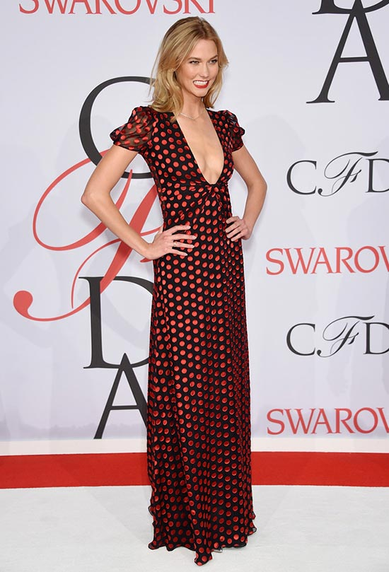2015 CFDA Awards Red Carpet Fashion: Karlie Kloss