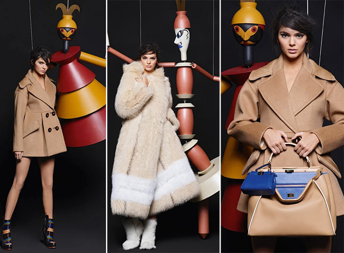 Kendall Jenner & Lily Donaldson for Fendi Fall 2015 Campaign