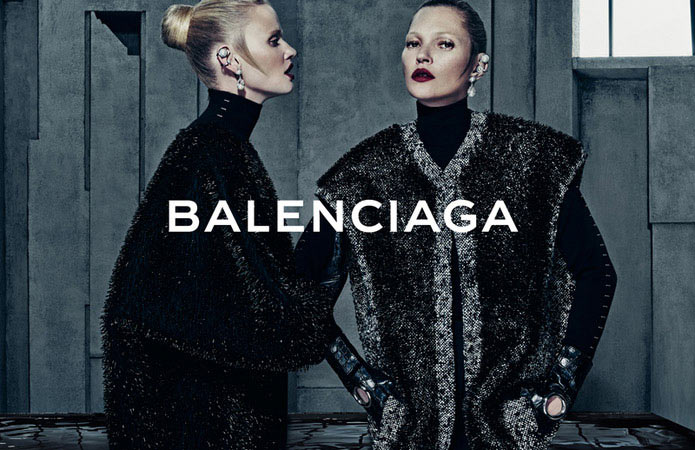 Kate Moss and Lara Stone for Balenciaga's Fall 2015 Campaign