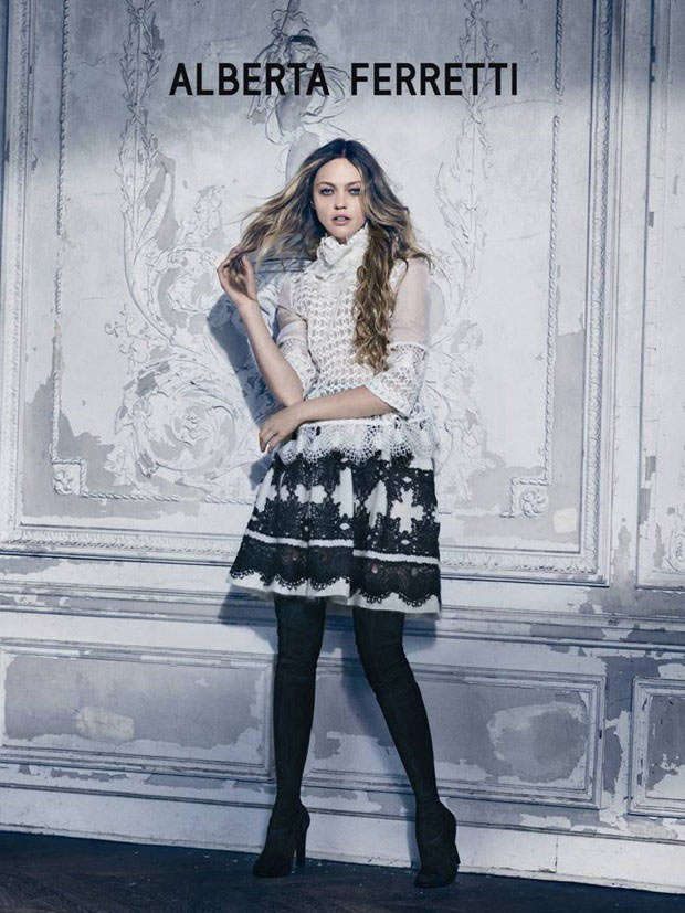 Sasha Pivovarova the Alberta Ferretti Queen for Fall 2015