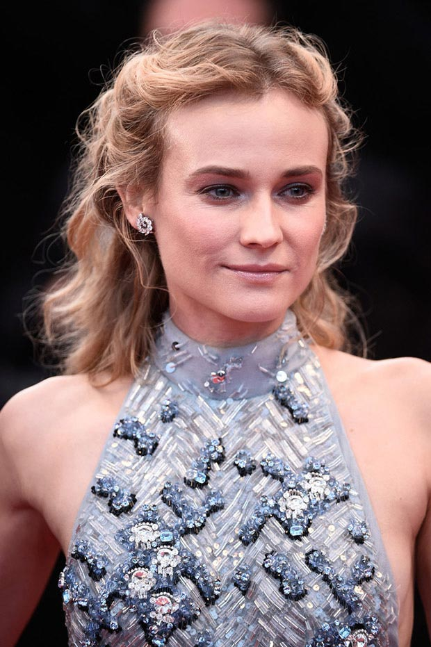 wedding guest hairstyles for summer, Diane Kruger