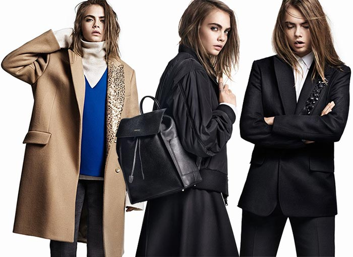 Cara Delevingne for DKNY Fall 2015 Campaign