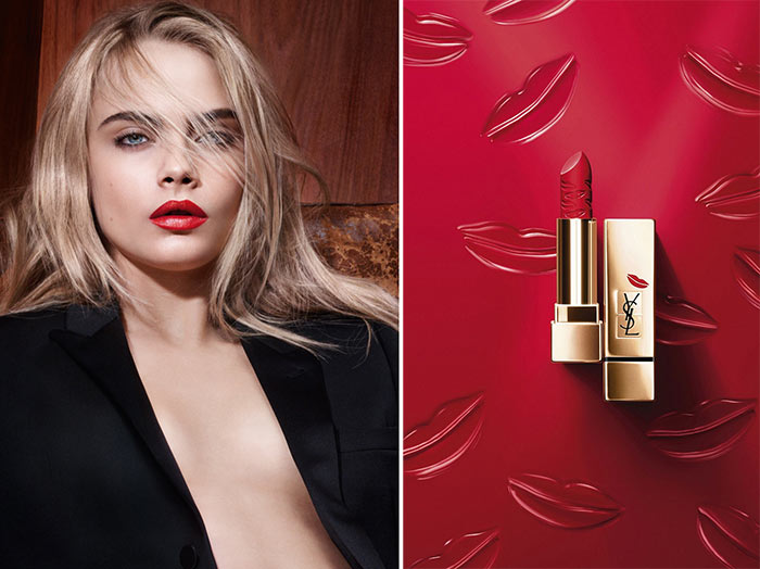 YSL Rouge Pur Couture Kiss & Love Fall 2015 Makeup